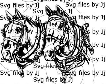 draft horses svg