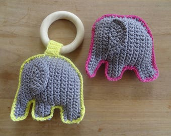 Maternity gift: Elephant teething ring or rattle