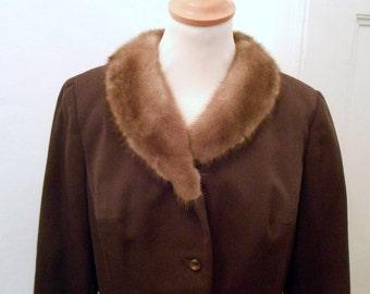 send costume jacket dark 60s beigefarbigem fur