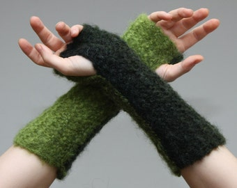 Forest green arm warmers