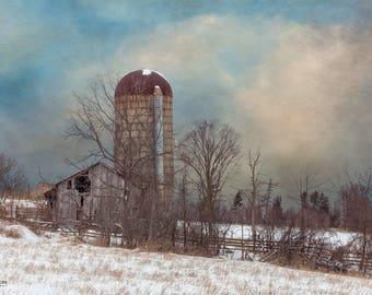 Winter Barn #001