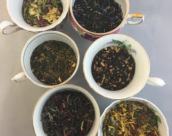 Sample Set of 3 Teas Choose Black, Earl Grey, Green, Herbal, Wellness Teas 20 cents  - Free Shipping USA