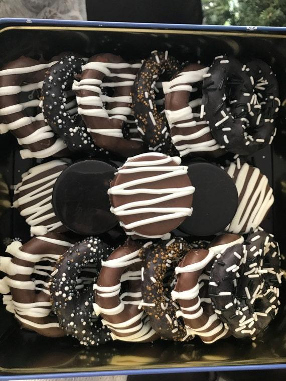 2 Dozen Chocolate Covered Pretzels and Oreos