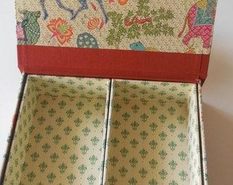 Box, jewellery box, storage, order, Florentine paper, book binding work.