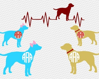 Labrador lab monogram dog SVG Clipart Cut Files Silhouette Cameo Svg for Cricut and Vinyl File cutting Digital cuts file DXF Png Pdf Eps
