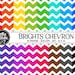 Buy 1 Get 1 Free!! 16 Bright Chevron Digital Paper • Rainbow Digital Paper • Commercial Use • Instant Download • #CHEVRON-122-2-B