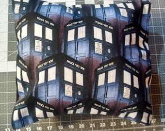 12x12 Dr. Who Tardis pillow