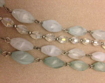 Vintage Sea-green 4-strand Necklace
