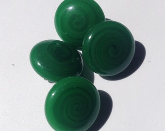 4 vintage glass buttons c1930s-40s