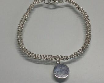 Initial Bracelet CUSTOM Silver Charm Bracelet