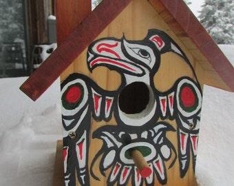 Birdhouse - Eagle Totem functional birdhouse - garden art