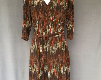Vintage Laundry by Shelli Segal 3/4 Sleeve Wrap Dress