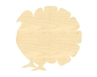 Thanksgiving Turkey Cut Out Shape- Laser Cut Turkey- Harvest Turkey Craft Wood Shape