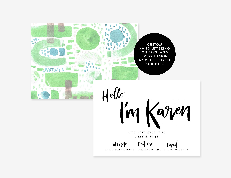business card design business branding design hand made