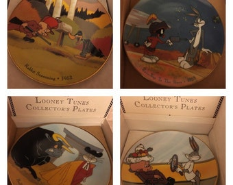 1992 Collectors Looney Tunes Plates Bugs Bunny Numbered by Warner Brothers new in box