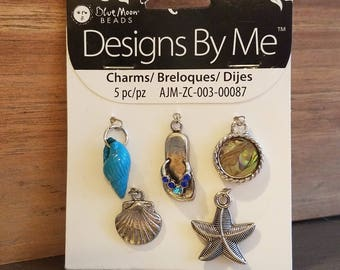 Beach themed charms