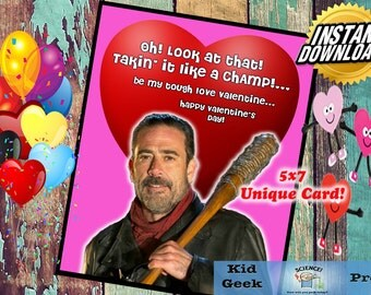 TWD The Walking Dead Negan Tough Love Valentineu0027s Day Card!