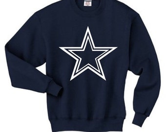 Cowboys sweatshirt -dallas cowboys logo sweatshirt for all sizes adults and kids and infants