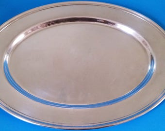 """Gorham Colonial Silver Plate 16"""" Meat Platter"""