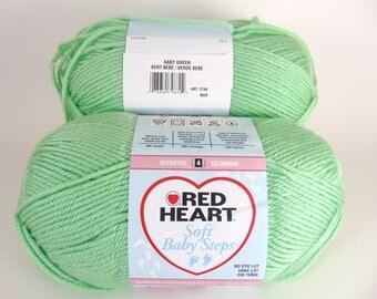Baby Green - Red Heart Soft Baby Steps Yarn Baby Yarn  - 3043