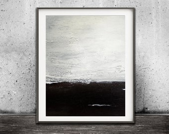Modern Abstract Printable Wall Art Digital Download Print Home Decor Black White Gray Art Contemporary Painting Urban Design by Sky Whitman