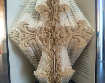 Fancy Cross Book Folding Pattern