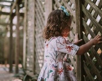 Modern Floral Dress // Twirl Dress // Floral Dress // Girl Dress // Swing Dress // Toddler Dress // Baby Girl Dress