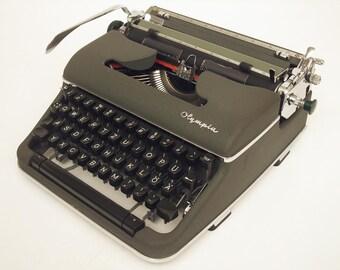 Olympia SM4 Typewriter - Working - Serviced - Vintage Manual Typewriter