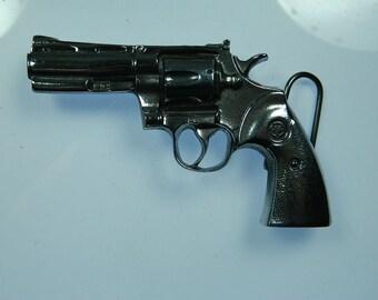 357 Magnum Handgun Gun Pistol Revolver Bullets Remington Belt Buckle