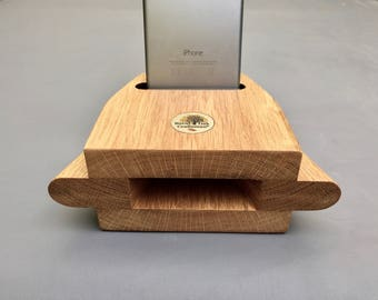 iPhone Wood Speaker- Sound amplifier-NO Batteries, NO Cord, NO Exterior power require