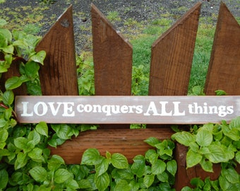 Love Sign, Romantic Wedding Signs,  Master Bedroom Wall Art, Lightweight Primitive Country Wall Art