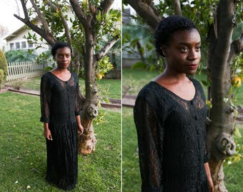 Reduced! 1990's Black lace Dress