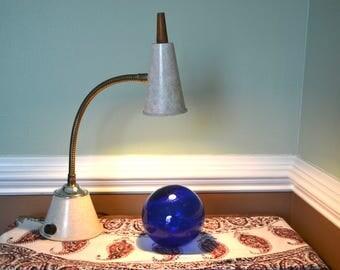 Vintage Small Goose Neck Lamp | Retro Desk Lamp | Funky Little Desk Lamp |  Mod