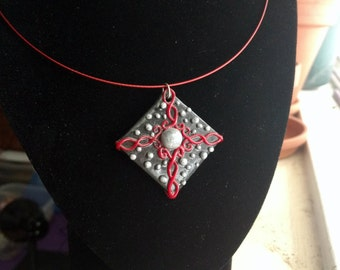 Psychedelic pendant necklace