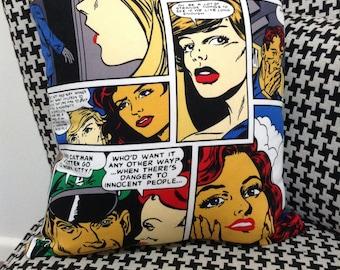 Handmade Comic Book Cushion