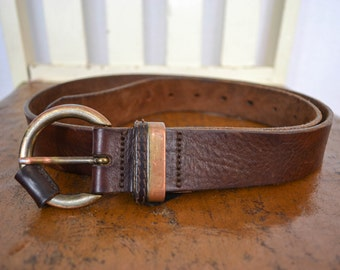 Classic Leather Belt Size M