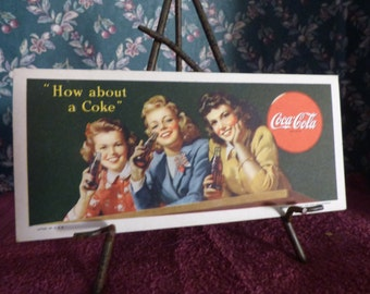 1944 Coca Cola ink blotter