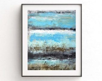 Abstract print digital download blue printable wall decor art print lines abstract painting modern home decor design contemporary artwork