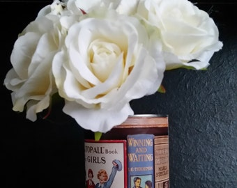 Upcycled Bookish Vase