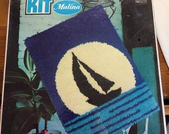 Vintage 1970's Hook a Rug Kit by Malina style #25/18 Frolic