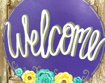 Circle Welcome Sign