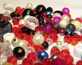 Plastic Retro looking Beads, New and Vintage lot