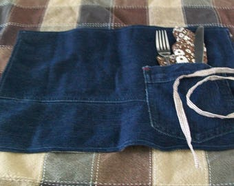 Set of 1 placemat and 1 napkin