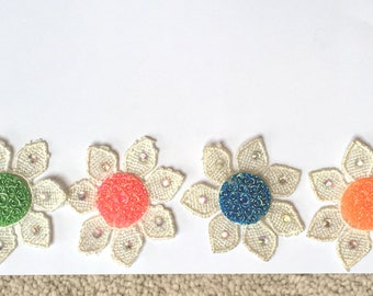 Flower Patches - Lot of 4