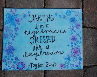 Taylor Swift Lyrics Print