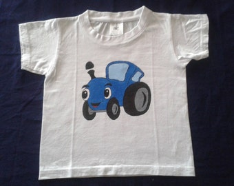 hand painted sleeve t-shirt 1-2 years