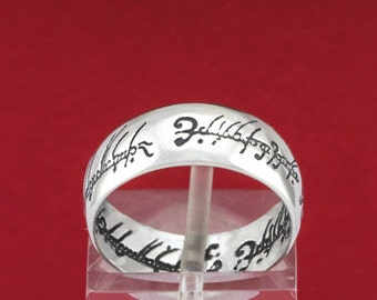 925 Sterling Silver Ring/Handcrafted  Silver Ring/Sterling Silver Ring/''Lord of the rings''/Band/Ring/R15
