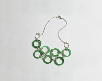 Genuine Jade Hoop Necklace