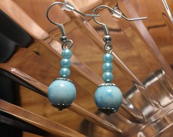 Light Blue Dangle Earrings