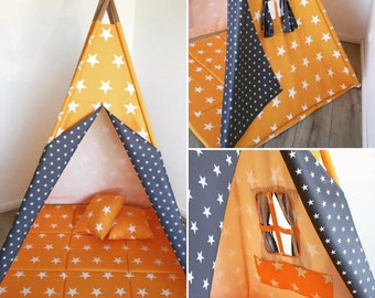 Play tent Goggly asterisk yellow